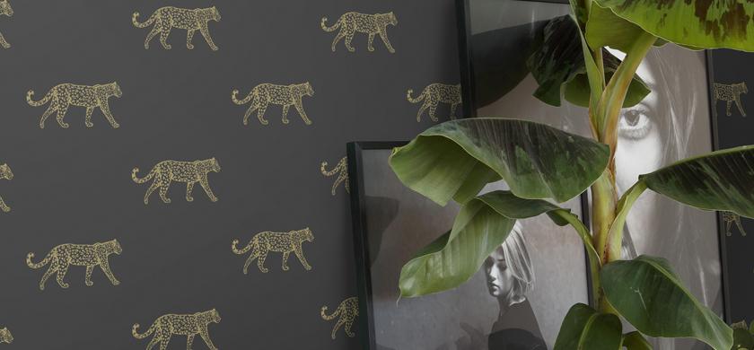 carta da parati leopardata