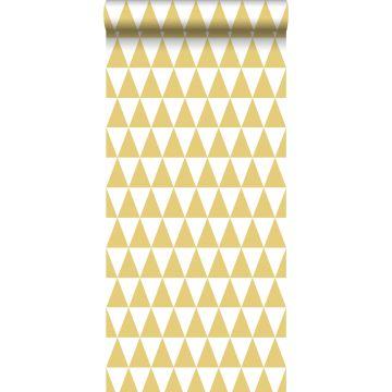 carta da parati triangoli grafici giallo ocra da ESTA home