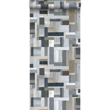 carta da parati legno di scarto grigio da ESTA home
