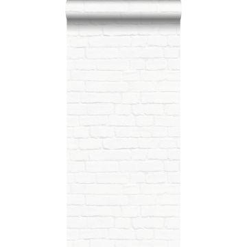carta da parati muro di mattoni bianco da ESTA home