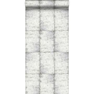 carta da parati lamiere zincate grigio caldo chiaro da ESTA home