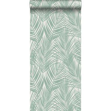 carta da parati foglie di palma verde menta da ESTA home