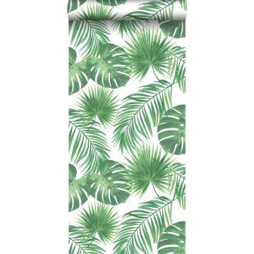 carta da parati foglie tropicali verde da ESTA home