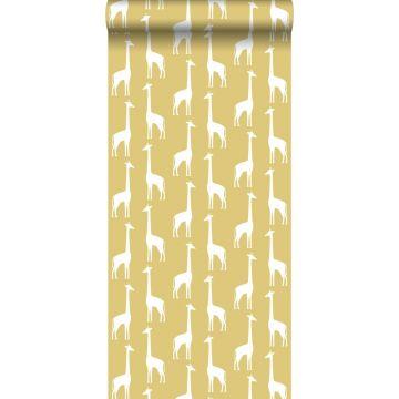 carta da parati giraffe giallo ocra da ESTA home