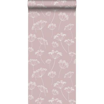 carta da parati ombrellifere rosa veccho e bianco da ESTA home