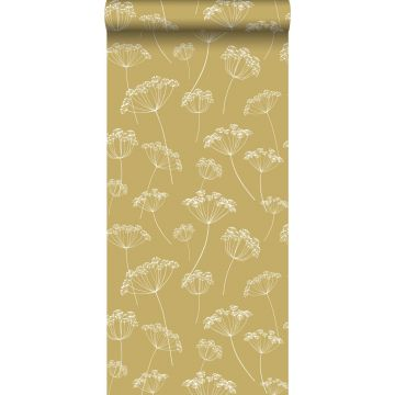 carta da parati ombrellifere giallo ocra e bianco da ESTA home