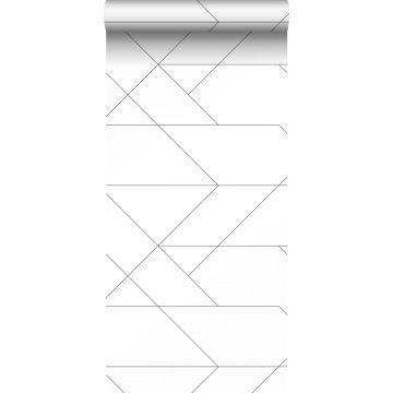 carta da parati linee grafiche bianco e nero da ESTA home