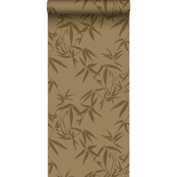 carta da parati foglie di bambù giallo ocra da ESTA home