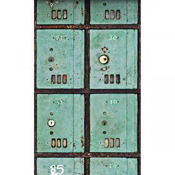 fotomurale cassette per le lettere verde del mare da ESTA home