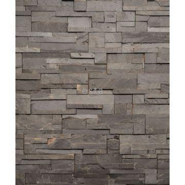 fotomurale composizione di legno di testa grigio da ESTA home