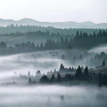 fotomurale montagne nebbiose verde da ESTA home