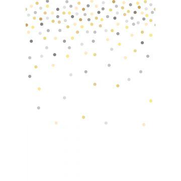 fotomurale punti di coriandoli giallo e grigio da ESTA home