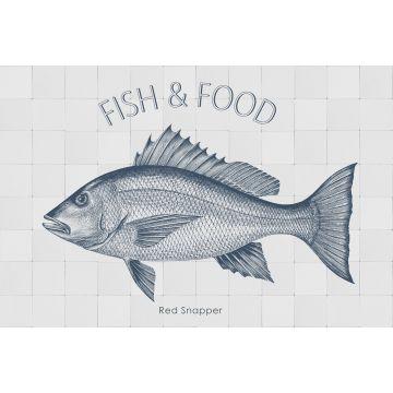 adesivo da parete pesce blu da ESTA home