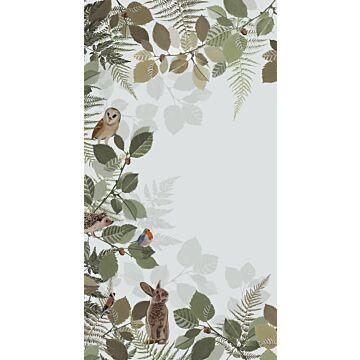 fotomurale animali della foresta verde e marrone da ESTA home