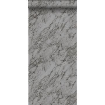 carta da parati marmo grigio da Origin