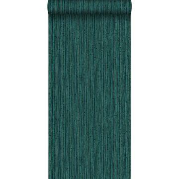 carta da parati bambù verde smeraldo da Origin