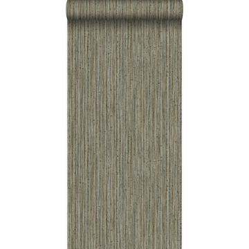 carta da parati bambù grigio talpa scuro da Origin