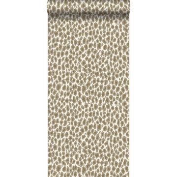 carta da parati pelle di leopardo beige da Origin