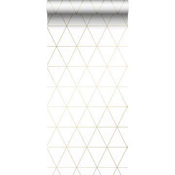 carta da parati triangoli grafici bianco e oro da Origin