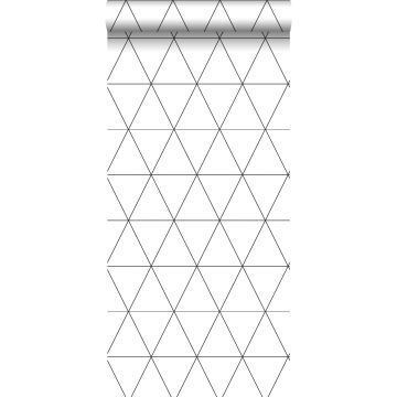 carta da parati triangoli grafici bianco e nero da Origin