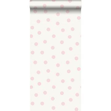 carta da parati puntini rosa lucido e bianco da Origin