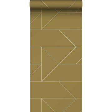 carta da parati linee grafiche giallo ocra da Origin