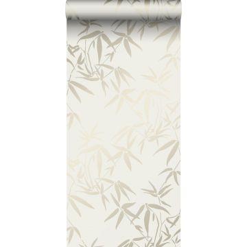 carta da parati foglie di bambù beige da Origin