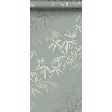 carta da parati foglie di bambù verde da Origin