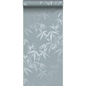 carta da parati foglie di bambù blu da Origin