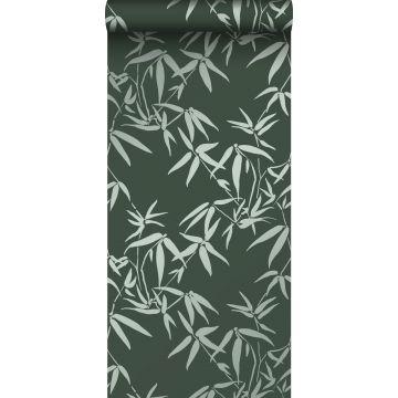 carta da parati foglie di bambù verde scuro da Origin