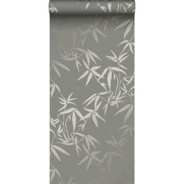 carta da parati foglie di bambù grigio caldo da Origin