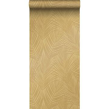 carta da parati foglie di palma giallo ocra da Origin