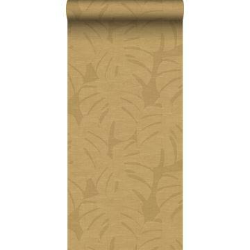 carta da parati foglie tropicali giallo ocra da Origin