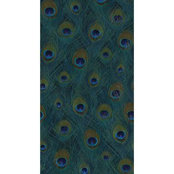 fotomurale piume di pavone verde del mare da Origin