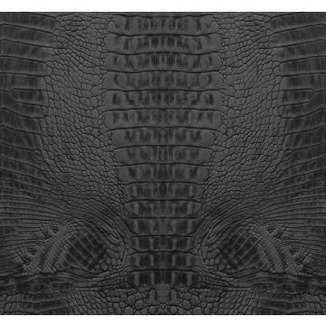 fotomurale pelle di coccodrillo nero da Origin