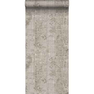 carta da parati kilim patchwork grigio talpa da Sanders & Sanders